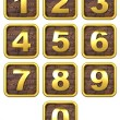 Royalty-Free Stock Photo: 3D Set of Gold Metal Numbers.