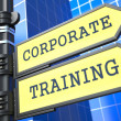 Foto Stock: Education Concept. Corporate Training Roadsign.
