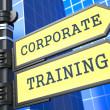 Education Concept. Corporate Training Roadsign. — Stock Photo