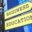 """Education Concept. """"Business Education"""" Roadsign. — Stock Photo"""