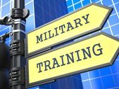 Education Concept. Military Training Roadsign. — Stock Photo