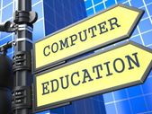 "Education Concept. ""Computer Education"" Roadsign. — Stock Photo"