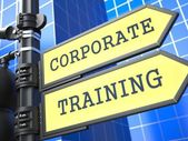 Education Concept. Corporate Training Roadsign. — Stock Photo