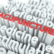 Royalty-Free Stock Photo: Acupuncture. The Wordcloud Medical Concept.