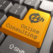 Keyboard with Online Consulting Button. — Stockfoto