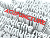 Acupuncture. The Wordcloud Medical Concept. — Stock Photo
