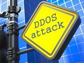 Internet Concept. DDOS Attack Roadsign. — Stock Photo