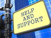 Service Concept. Help and Suppor Roadsign. — Stock Photo