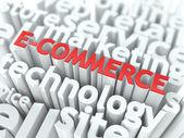 E-Commerce. The Wordcloud Business Concept. — Stock Photo