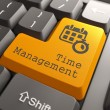 "Keyboard with ""Time Management"" Button. — Foto Stock"