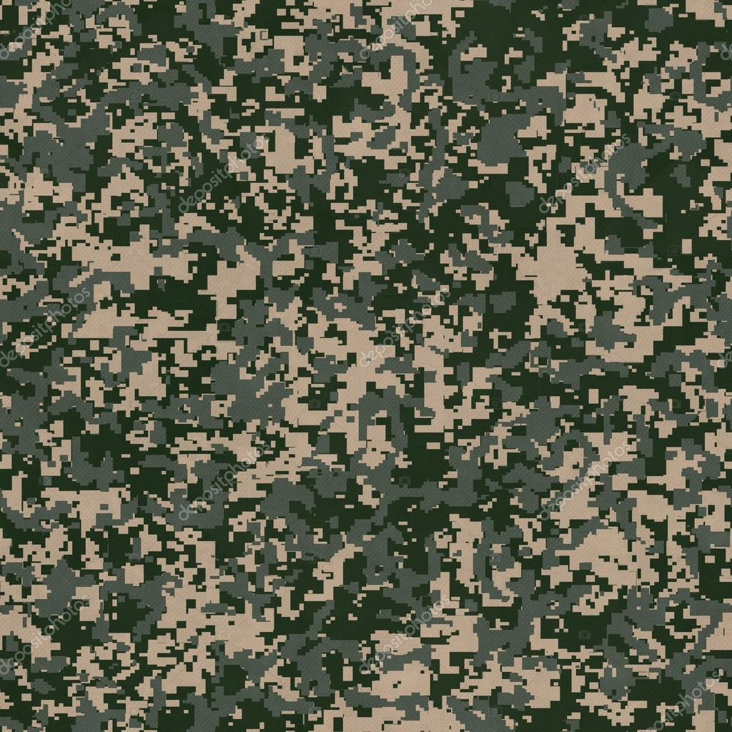 Military Fabric Pattern. Seamless Texture. — Stock Photo