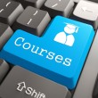 "Stock Photo: Keyboard with ""Courses"" Button."