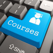"Keyboard with ""Courses"" Button. — Stock Photo #25511413"
