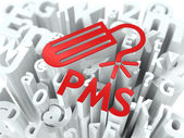 Red PMS (premenstrual syndrome) Background. — Stock Photo