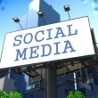 Social Media Concept on Billboard. — Stock Photo #26006047