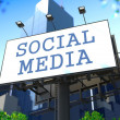 Social Media Concept on Billboard. — Stock Photo