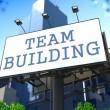 Team Building Concept on Billboard. — Stock Photo