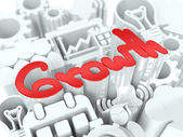 Growth Concept on White Background. — Stock Photo