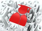 Education Concept on Alphabet Background. — Foto de Stock