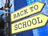 Education Concept. Back to Shool Roadsign Arrow. — Stock Photo