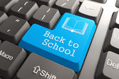 """Keyboard with """"Back to School"""" Button. — Stock Photo"""