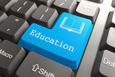 Keyboard with Education Button. — Stock Photo