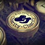 Charity Typewriter Key. Grunge Background. — Stock Photo #26377171