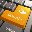 Keyboard with Donate Button. - Stockfoto