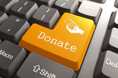 Keyboard with Donate Button. — Stock Photo