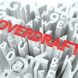 Stock Photo: Overdraft. Wordcloud Concept.