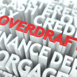 Overdraft. The Wordcloud Concept. — Stock Photo