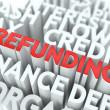 Stock Photo: Refunding. Wordcloud Concept.