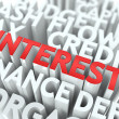 Interest. The Wordcloud Concept. — Stock Photo