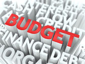 Budget. The Wordcloud Concept. — Stock Photo