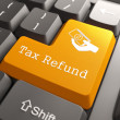 Keyboard with Tax Refund Button. — Stock Photo #27007315