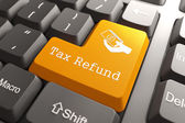 Keyboard with Tax Refund Button. — Stock Photo