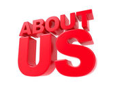 About Us - Red 3D Text. — Stock Photo