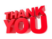Thank You - Red 3D Text. — Stock Photo