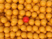 Yellow Balls - Abstract Background. — Stock Photo