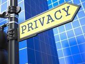 Privacy Roadsign. — Stock Photo