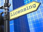 Licensing Concept. — Stock Photo