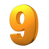 Gold 3D Number. — Stock Photo