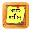 Need a Help?. Sticker on Bulletin. — Lizenzfreies Foto