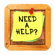 Need a Help?. Sticker on Bulletin. — 图库照片