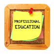 Professional Education. Sticker on Bulletin. — Stock Photo