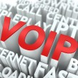 VOIP. The Wordcloud Concept. — Stock fotografie