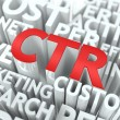 CTR. The Wordcloud Concept. — Stock fotografie