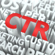 CTR. The Wordcloud Concept. — Stockfoto