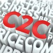 C2C. The Wordcloud Concept. — Foto de Stock