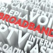 Broadband. Wordcloud Concept. — Stock Photo #29245677